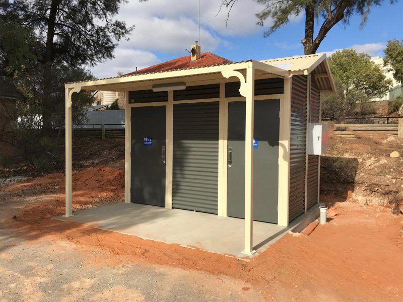 Burton Toilet Building Exterior
