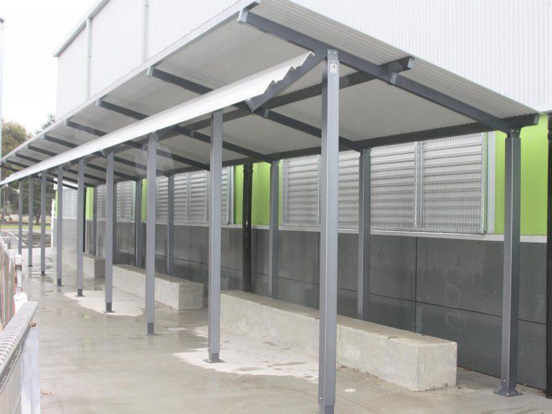 25m x 3m Skillion Shelter