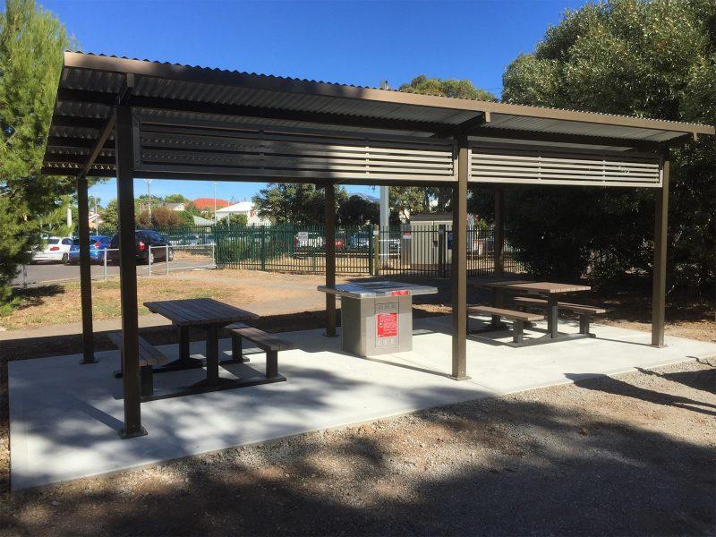 Sommerton Park Rotary Club Skillion Shelter with Screening