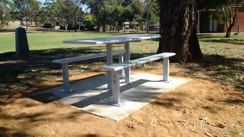 access table with sports bench setting