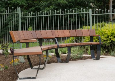 Timber Custom Curved Seating