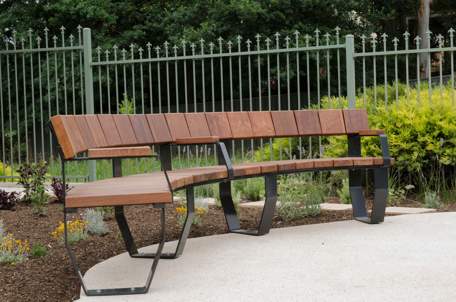 Timber Custom Curved Seating Terrain Group