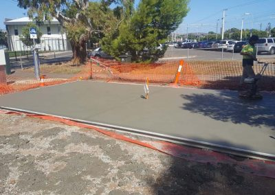 Brighton Pump Track Opening with Skillion Shelter Concrete Slab