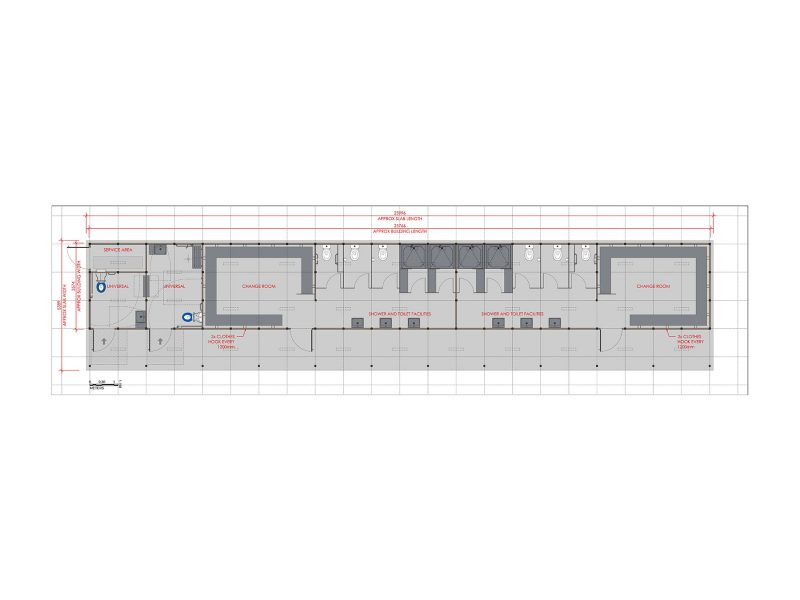 Change Room Multi Building Floorplan
