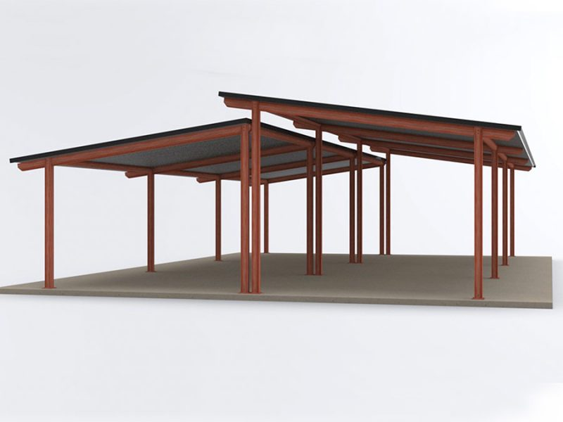 Custom Large Double Moreton Bay Shelter