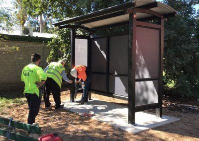 Seaside Bus Shelter Installation