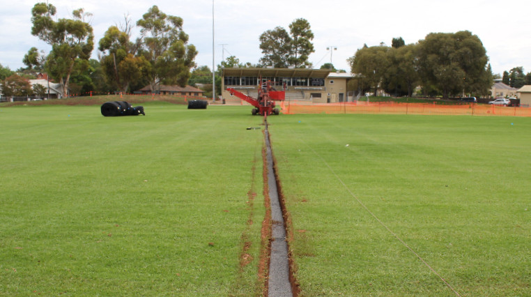 Walkerville Oval's drainage and irrigation upgrade