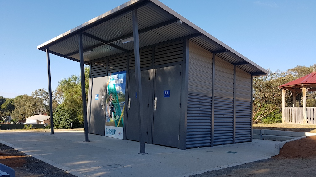 Murray Bridge and Wellington's new toilet buildings