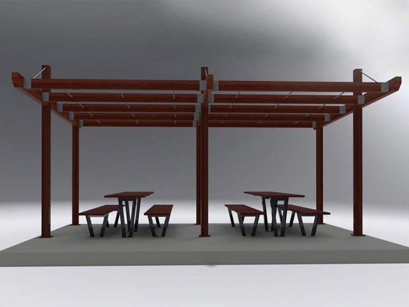 Capricorn Arbor Shelter with Table Setting