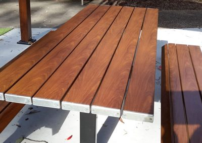 Eco Boardwalk Table Setting with TimberMatch