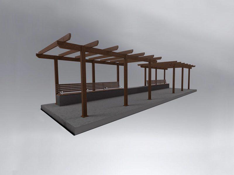 Walkway Arbor Shelter
