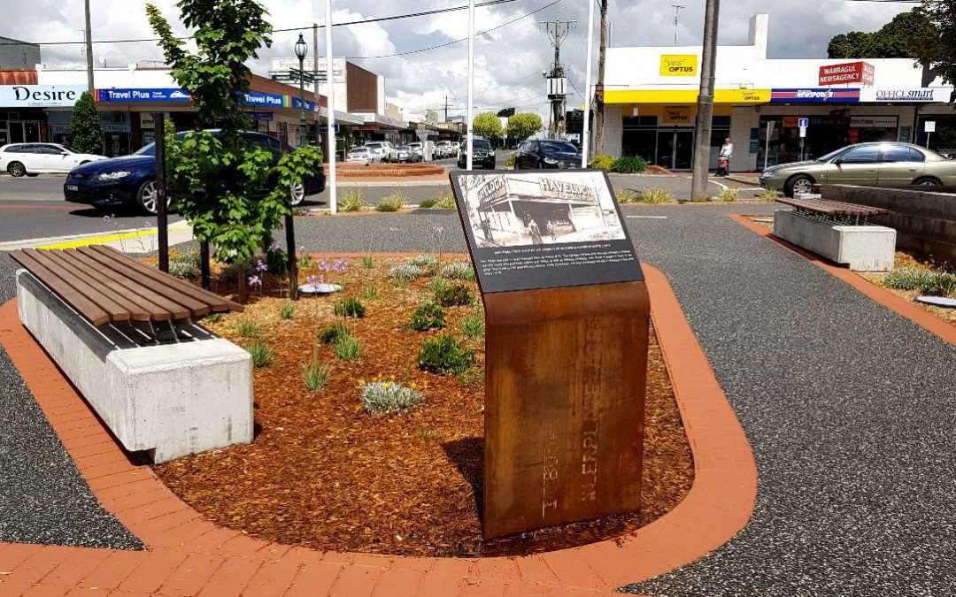 Custom Interpretive Signage displays Warragul's long history