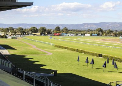 Irrigation works on Morphetville Racecourse