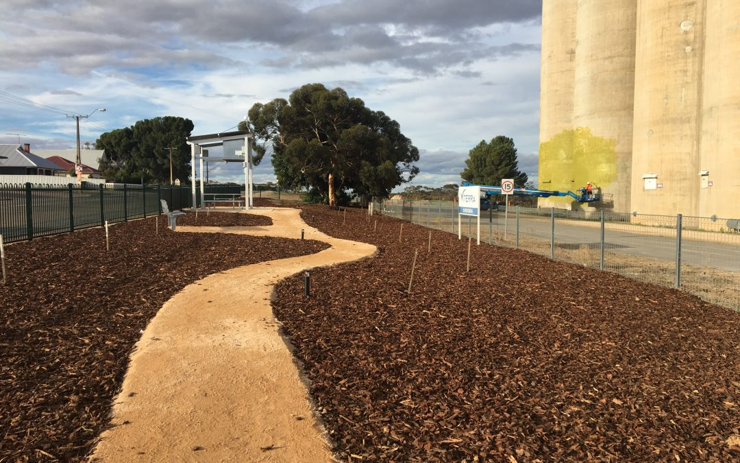 Karoonda uses custom Terrain shelter to project Silo art