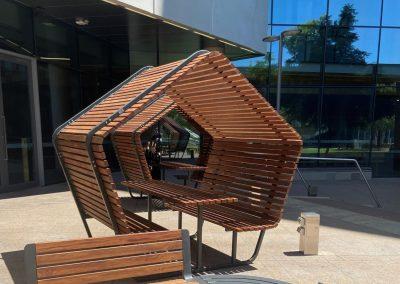 Urban Shelter Table Setting for University of SA