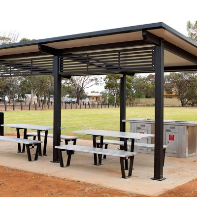 Moreton Bay shelter and picnic facilities in Norton Park